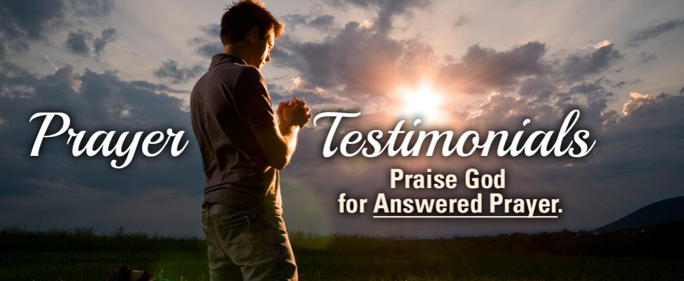 Praise God for Answered Prayer